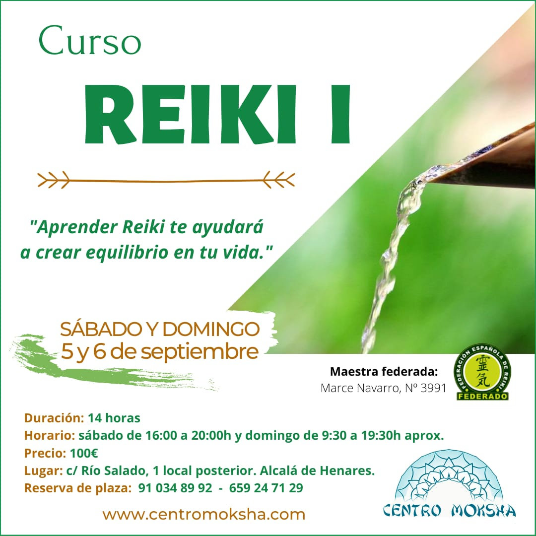 Curso Reiki Nivel I (Sep 2020)